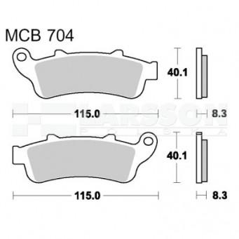 Klocki hamulcowe TRW Lucas MCB704SV (2 szt.)