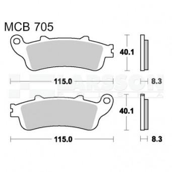 Klocki hamulcowe TRW Lucas MCB705SH (2 szt.)