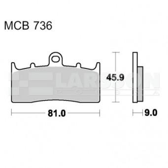 Klocki hamulcowe TRW Lucas MCB736 (2 szt.)