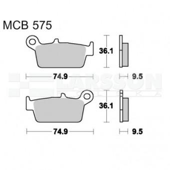 Klocki hamulcowe TRW Lucas MCB575 (2 szt.)
