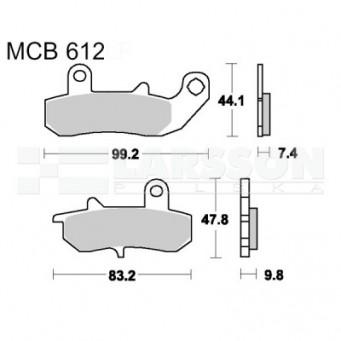 Klocki hamulcowe TRW Lucas MCB612 (2 szt.)