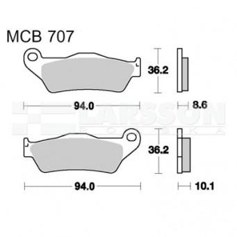 Klocki hamulcowe TRW Lucas MCB707 (2 szt.)
