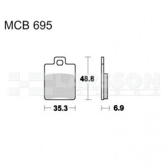 Klocki hamulcowe TRW Lucas MCB695 (2 szt.)
