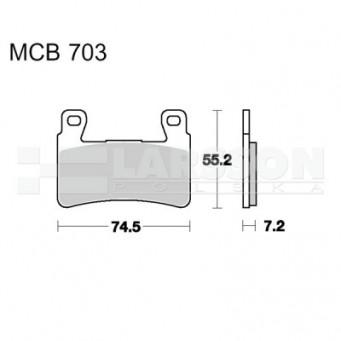 Klocki hamulcowe TRW Lucas MCB703SV (2 szt.)