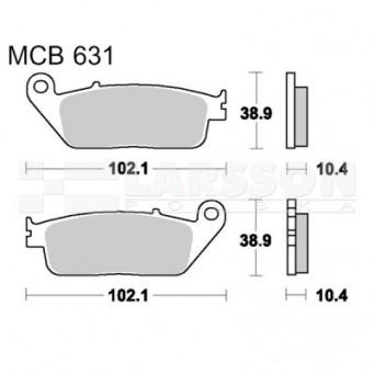 Klocki hamulcowe TRW Lucas MCB631SH (2 szt.)