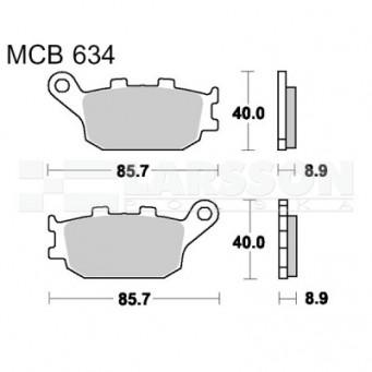 Klocki hamulcowe TRW Lucas MCB634SH (2 szt.)