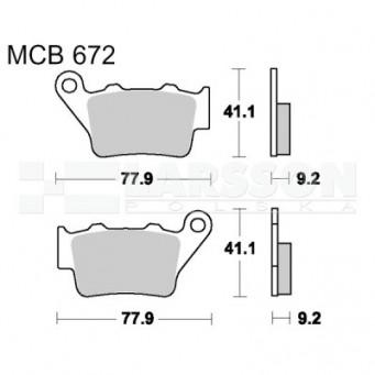 Klocki hamulcowe TRW Lucas MCB672 (2 szt.)