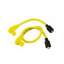 Uniwersalny zestaw przewodów świec zapłonowych harley, metallic core Taylor, 8 mm. żółty