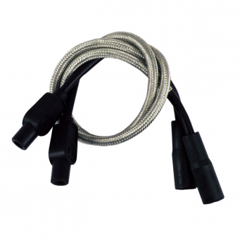 Uniwersalny zestaw przewodów świec zapłonowych harley, pro braided stainless Taylor, 8 mm.