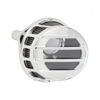 Arlen Ness Sidekick, przeźroczysty, chromowany filtr powietrza do harley'a, 01-15 Softail, 04-17 Dyna 02-07 FLT / Touring