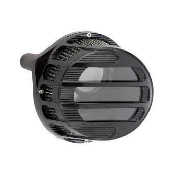 Arlen Ness Sidekick, przeźroczysty, czarny filtr powietrza do harley'a, 18-20 Softail, 17-20 Touring, 17-20 Trikes